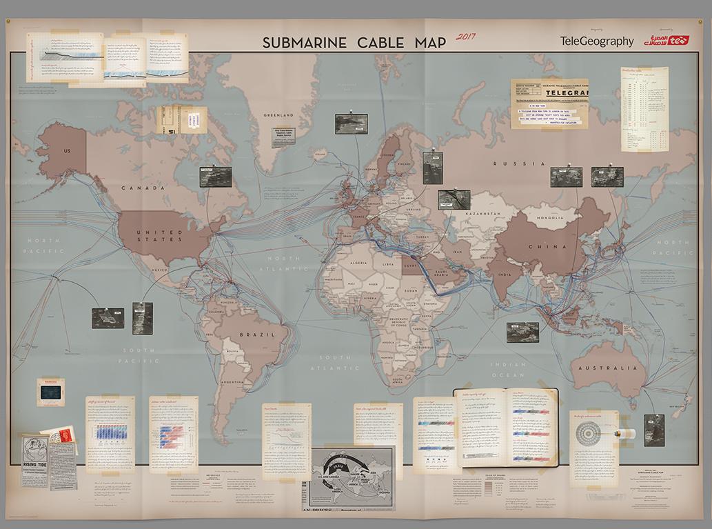 mapa de cableado submarino
